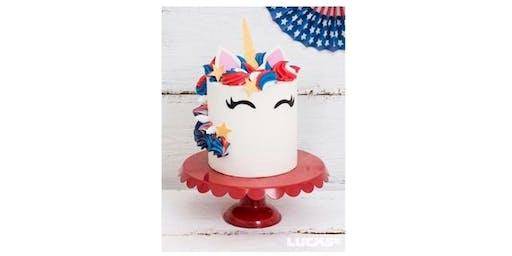 4th of July Unicorn Cake Workshop