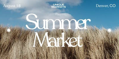 Denver Summer Pop-Up Market