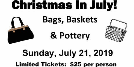 Bags Baskets & Pottery Bingo tickets