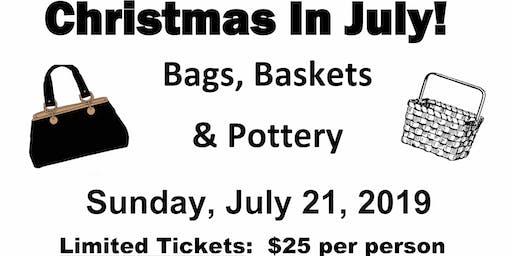 Bags Baskets & Pottery Bingo