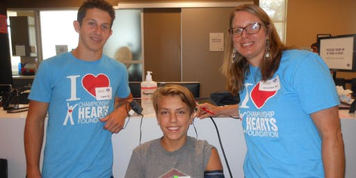 VOLUNTEER on June 22, 2019 at ARC Wilson Parke for the Heart Screening