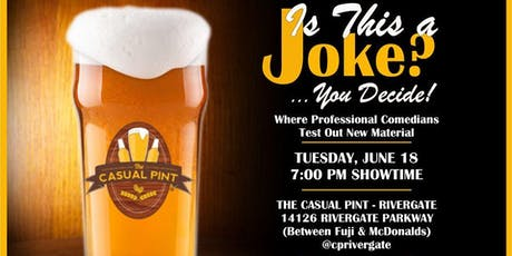 Is this a Joke w/Beerly Funny at The Casual Pint in Rivergate tickets
