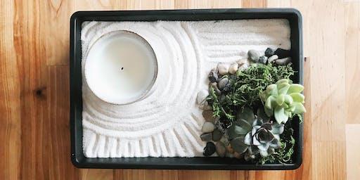 Succulent Zen Garden & Candle Making Class