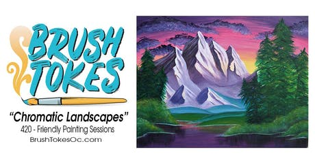 "BrushTokes All-Inclusive Paint & Sip Session ""Chromatic Landscapes"" tickets"