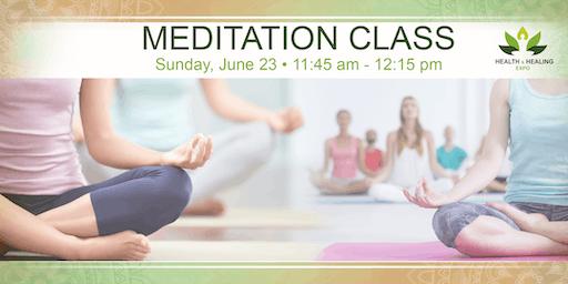 FREE Meditation Session @ Health Healing Expo