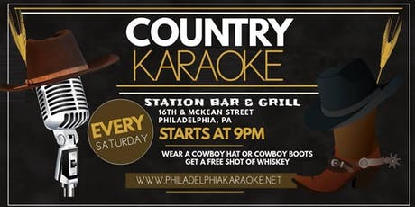 Saturday Country Karaoke at Station Bar & Grill in South Philly tickets