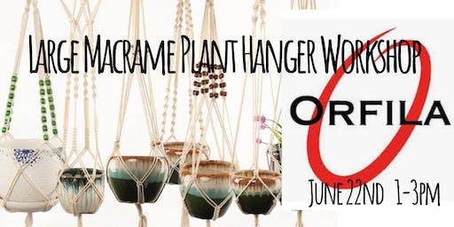 Macrame Plant Hanger Workshop