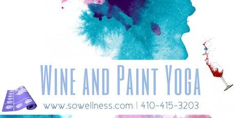 Wine N Paint Yoga: Design a yoga mat tickets
