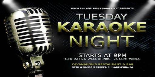 Tuesday Karaoke at Cavanaugh's (West Philadelphia)