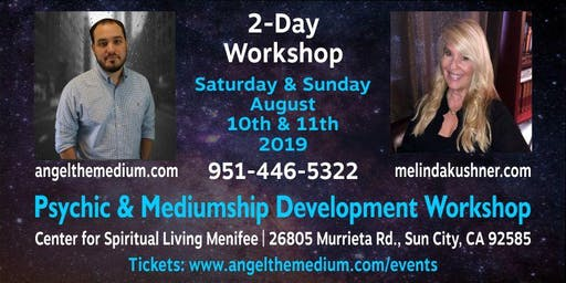 2 Day Psychic & Mediumship Development Workshop w/ ATM & Melinda Kushner