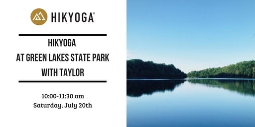 Hikyoga® at Green Lakes State Park with Taylor
