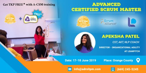 Advanced Certified ScrumMaster (A-CSM) Workshop in Orange County