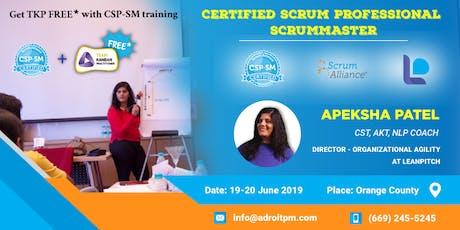 Certified Scrum Professional - ScrumMaster (CSP-SM) Workshop in Orange County tickets