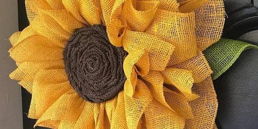 Create a sunflower wreath