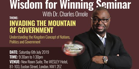 Wisdom for Winning Seminar and Mentoring with Dr Charles Omole tickets