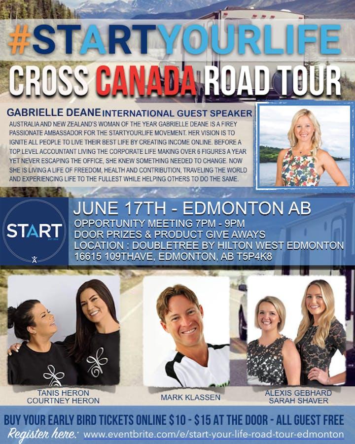 Start Your Life Road Tour - Edmonton, AB / Monday, June 17 7:00 PM