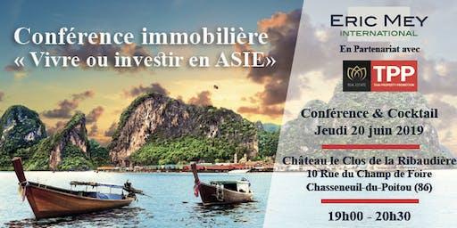 """Conférence """"Vivre ou investir en Asie"""" à Poitiers"""