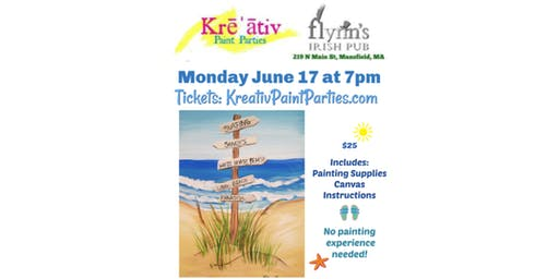 Flynns- Beach sign painting- Monday June 17th at 7pm