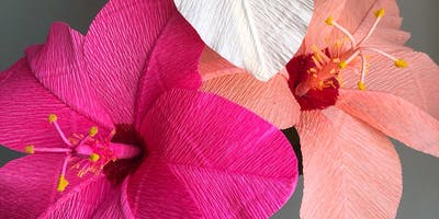 The Art of Crepe Paper Flower Making: Hibiscus
