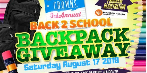 CROWNS Back to School Backpack Drive