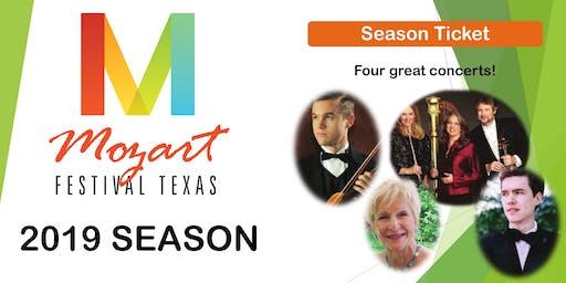 Mozart Festival Texas 2019 Season Ticket (4 Concerts)