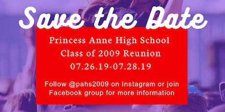 Princess Anne High School Class of 2019 Reunion tickets
