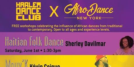 FREE Summer AfroDance workshop serie tickets