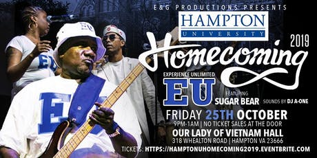 Hampton Univ. Homecoming 2019-School Daze w/Experience Unlimited Band (EU) tickets