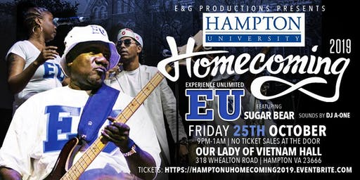 Hampton Univ. Homecoming 2019-School Daze w/Experience Unlimited Band (EU)