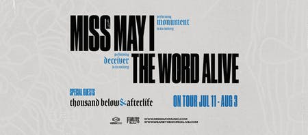 Miss May I + The Word Alive