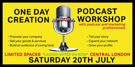 Complete 1 DAY PODCAST CREATION WORKSHOP with pro podcasters & marketers tickets