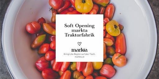 Persönliche Einladung: Soft Opening markta Traktorfabrik am 19. Juni 2019