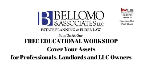 Asset Protection for Professionals, Small Biz Owners and Landloards tickets