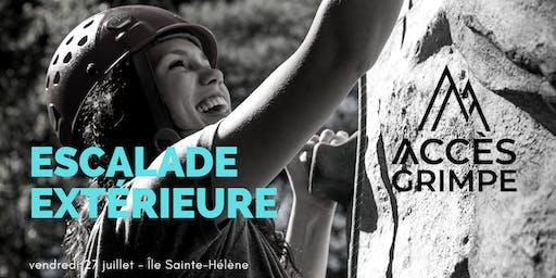 Escalade adaptée - Île Sainte-Hélène - 27 juillet