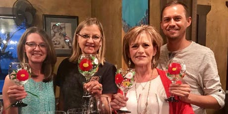 In Bloom Wine or Beer Glass Painting Class at Von Ebert - Glendoveer tickets