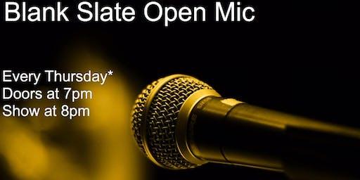 Blank Slate Open Mic