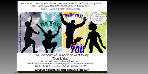 NCP Youth Sovereignty Awards Ceremony & Luncheon (Nominations are NOW OPEN)