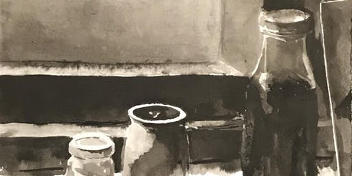 Intro to Black & White Ink Wash Painting