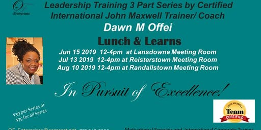 Leadership Training 3 Part Series