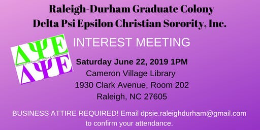 Christian Sorority Interest Meeting