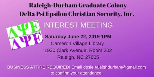 Christian Sorority Interest Meeting