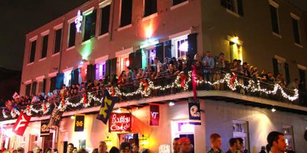 bourbon street hotels with balcony New Years Eve Bourbon Street Balcony Party