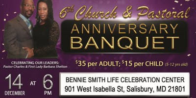 Pastor Charles Shelton and  Mt. Calvary Apostolic Church Anniversary Banquet