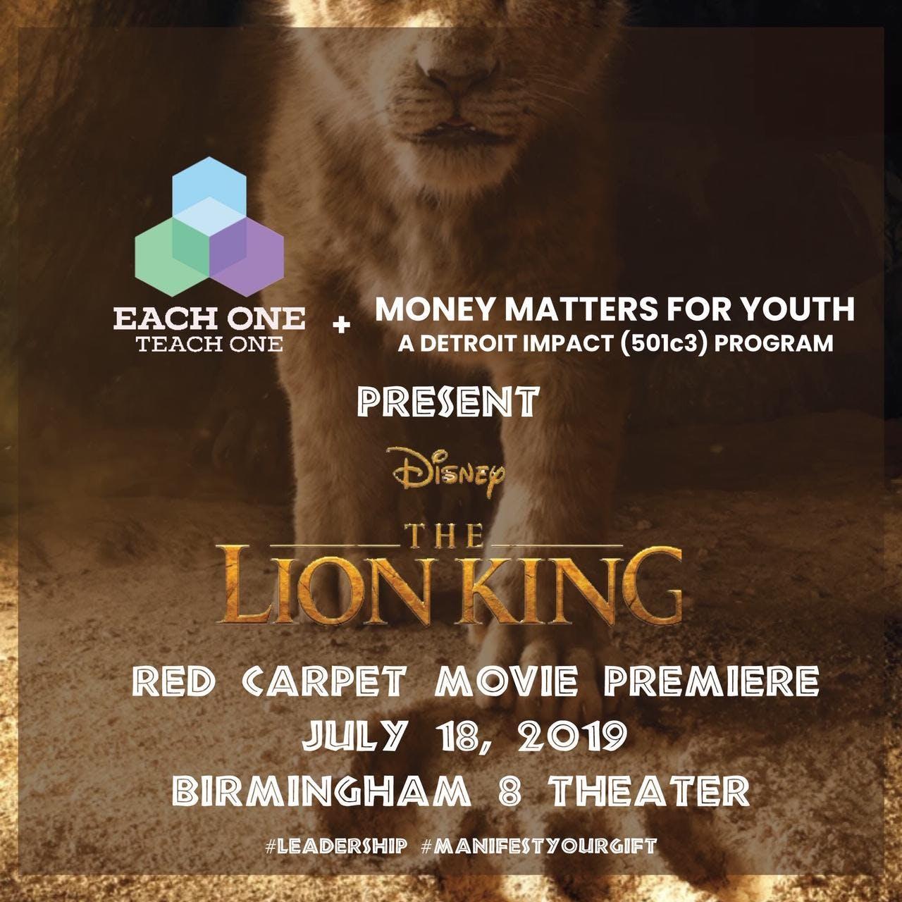 A Red Carpet Premiere: Disney's The Lion King