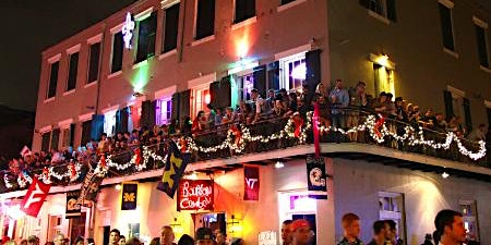 Mardi Gras Balcony Party Bacchus Sunday