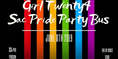 Girl Twenty4 Sac Pride Party Bus