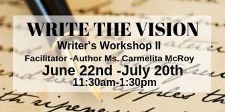 Write The Vision -Writer's Workshop II tickets