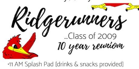 GHS '09 10 Year Reunion #Ridgerunners tickets
