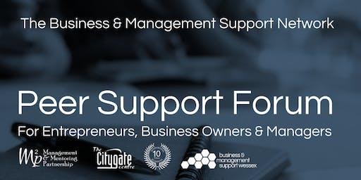 Business & Management Peer Support Forum - 25th June 2019