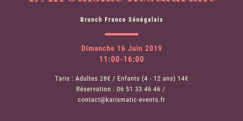 BRUNCH FRANCO SÉNÉGALAIS